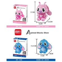 Bevle HC 9040 1617Pcs Stitch Japanese anime Cartoon DIY Magic Blocks Diamond Building Block Toys Compatible with weagle(China)