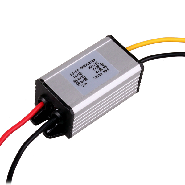 Auto DC 24V to DC 12V Step Down Converter Regulator Power Inverter Adapter Input for Car Vehicle Boat Truck Van 2A / 5A