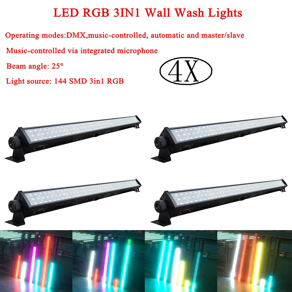 LED Strip Light RGB 3IN1 Wall Wash Lights DJ Disco Light Led Laser Lamp Patterns Party Stage Projector Bar Wedding Lighting