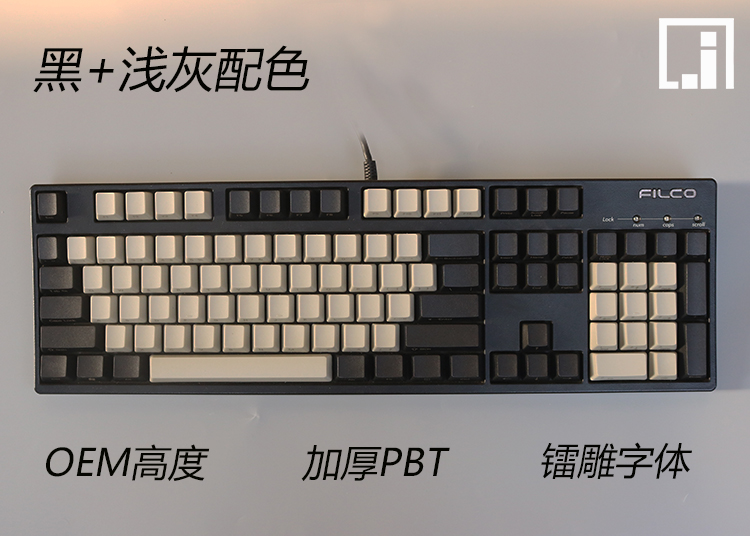 mechanical keyboard keys thick PBT black light gray 104 keycap cherry mx OEM poker 61 keyboard 60% side print granite thunderobot storm shadow k75t pbt 104 keys mechanical keyboard