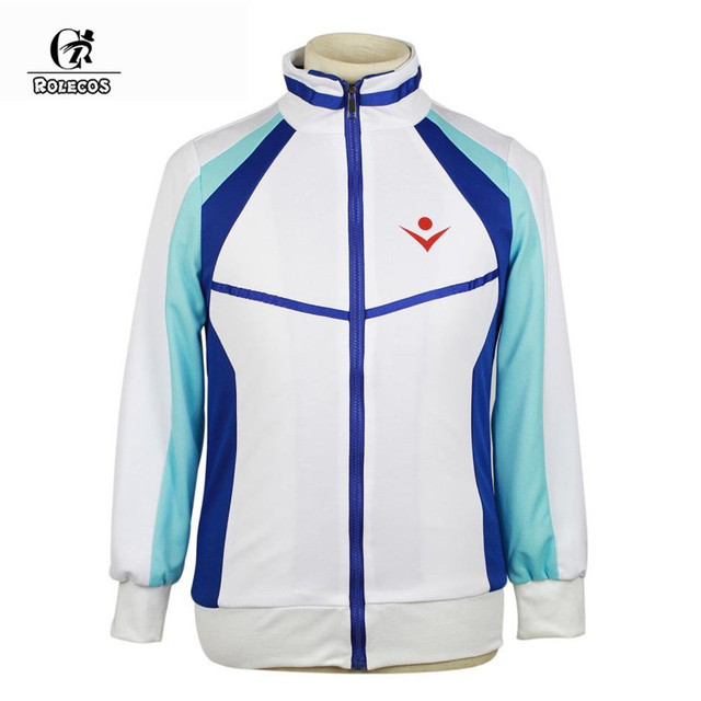 ROLECOS Anime Free! Iwatobi Swim Club Jacket Haruka Nanase Cosplay Costumes Unisex Hoodie High School Jacket