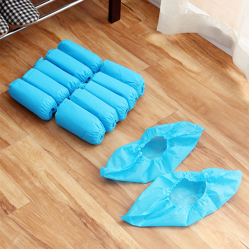 50Pair Nonwoven Fabric Shoe Covers Reusable Dustproof Rain Shoes Bag Disposable Protect Shoe Covers For Hospital Doctors Nurses in Shoe Covers from Home Garden