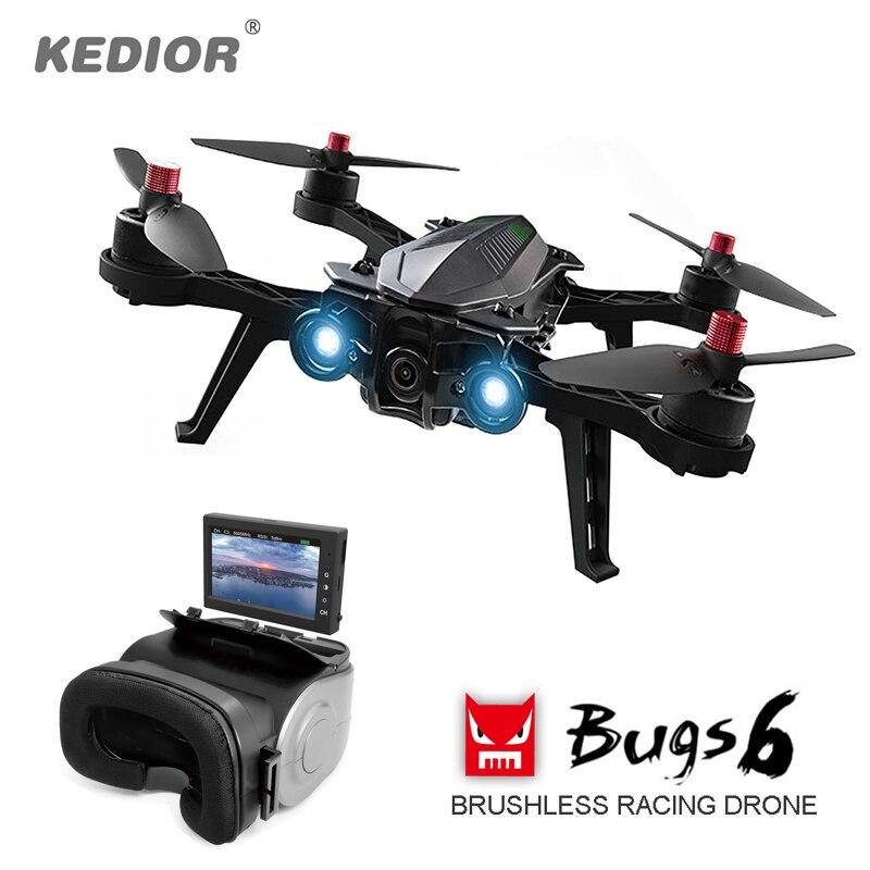 À distance Hélicoptère Professionnel Drone avec Caméra HD Vidéo En Direct 5.8G FPV Quadcopter Brushless Multicopter RTF