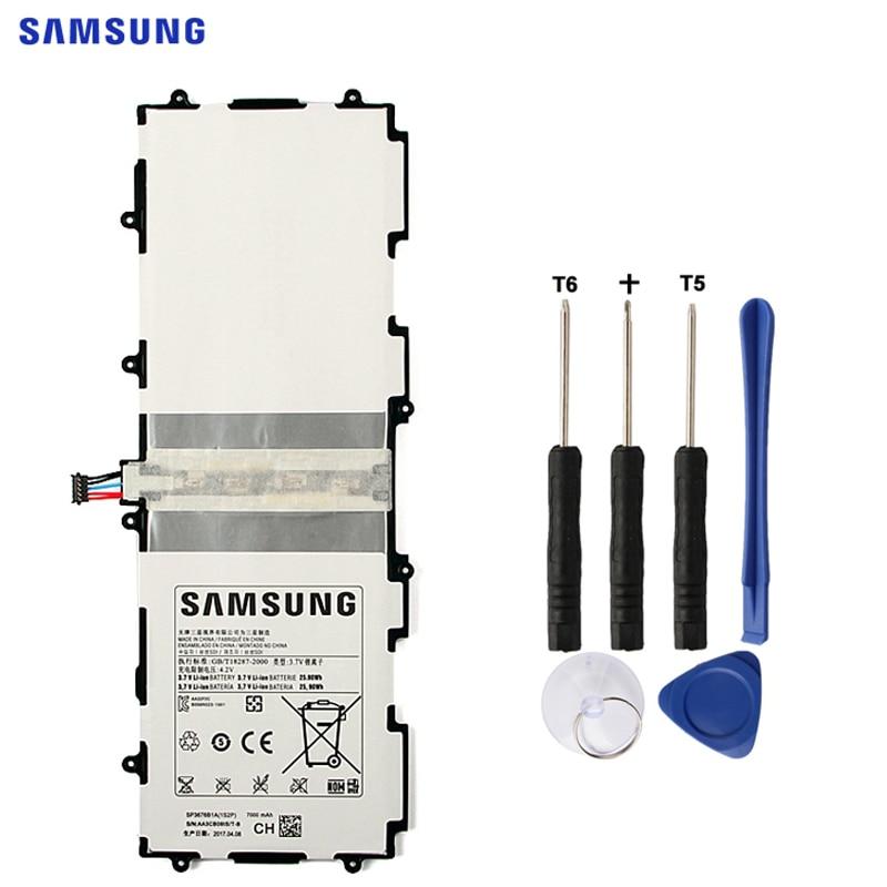 SAMSUNG Original Batterie SP3676B1A Für Samsung Galaxy Tab 10,1 S2 N8000 N8010 N8020 N8013 P7510 P7500 P5100 P5110 P5113 7000 mAh