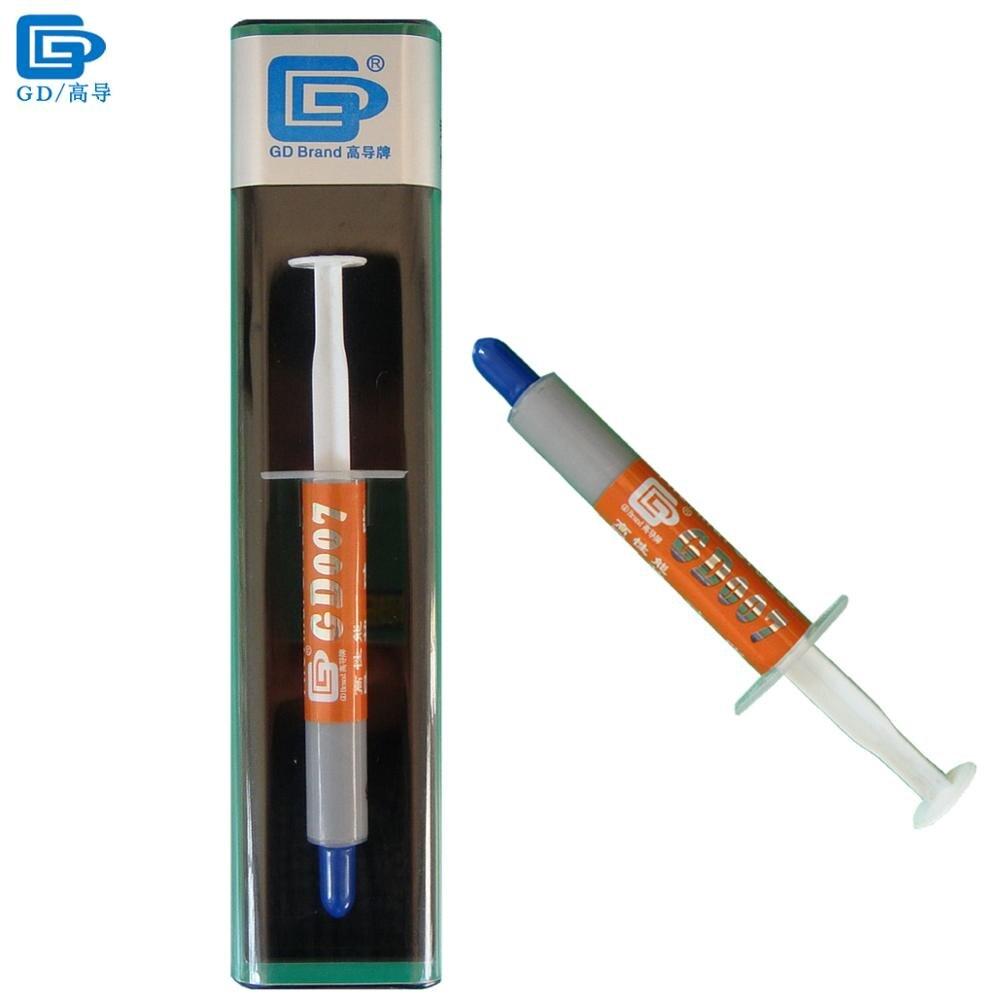 GD007 Thermique Conducteur Graisse Plâtre Pâte Silicone Dissipateur de Chaleur Composé Net Poids 3 Grammes Haute-fin Argent Gris BX3 SY3