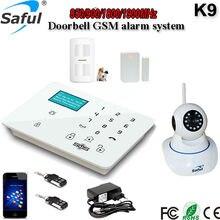 Tecla táctil LCD Android/ios APP Wifi cámara de Sistema de Alarma GSM Wireless Home alarma de Temperatura con función de llamada y timbre