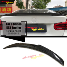 For BMW E93 M3 2-Door Coupe Convertible High Kick Forging Carbon Fiber Trunk Spoiler Wing 3 Series Rear Tail Wings 06-13