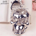 2016 New Fashion Crystal Skull Key Chain Alloy 3D Skull Pendant Key Rings Holder Men and Women Nightmare  Punk Bag Pendant