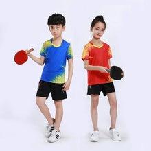 Adsmoney/Детский костюм для настольного тенниса с v-образным вырезом, уникальный дизайн, дышащая и быстросохнущая футболка и шорты для бадминтона