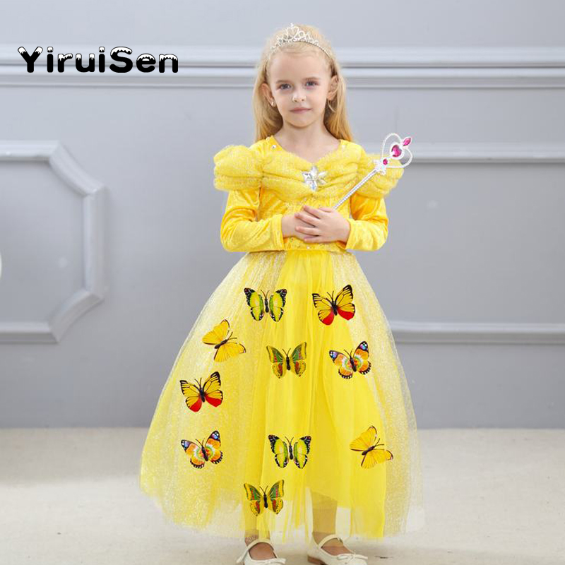 Cinderella Dress Costume for Kids Party Baby Girl Dresses For Girls Net Yarn Sleeve For Teenagers Children Clothing 3-10 Years платье для девочек party dresses for girls baby 2 11 casual girl dress