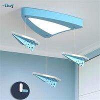 Papel criativo avião acrílico luzes de teto para crianças quarto estudo sala jantar decoração crianças iluminação interior lâmpada do teto Luzes de teto     -