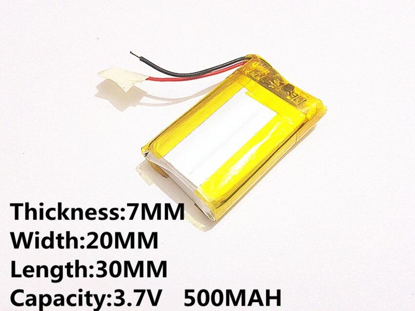 Unterhaltungselektronik Praktisch Polymer Lithium-batterie 702030 3,7 V 500 Mah 072030 Kann Angepasst Werden Großhandel Ce Fcc Rohs Msds Qualität Zertifizierung