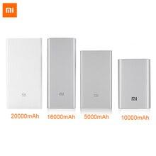 Original Xiaomi Banco de la Energía 5000 mAh 10000 mAh 16000 mAh 20000 mAh Powerbank Banco De Baterías Externas para el iphone 5S 6 6 s xiaomi teléfonos