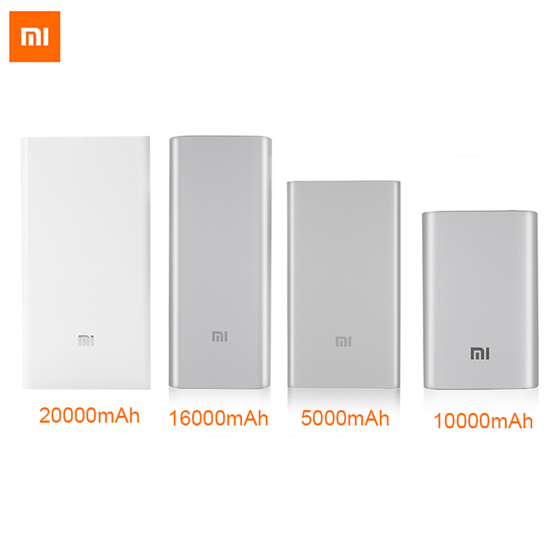 Original for Xiaomi Power Bank 5000mAh 10000mAh 16000mAh 20000mAh Powerbank External Battery Bank for iphone 5s 6 6s phones