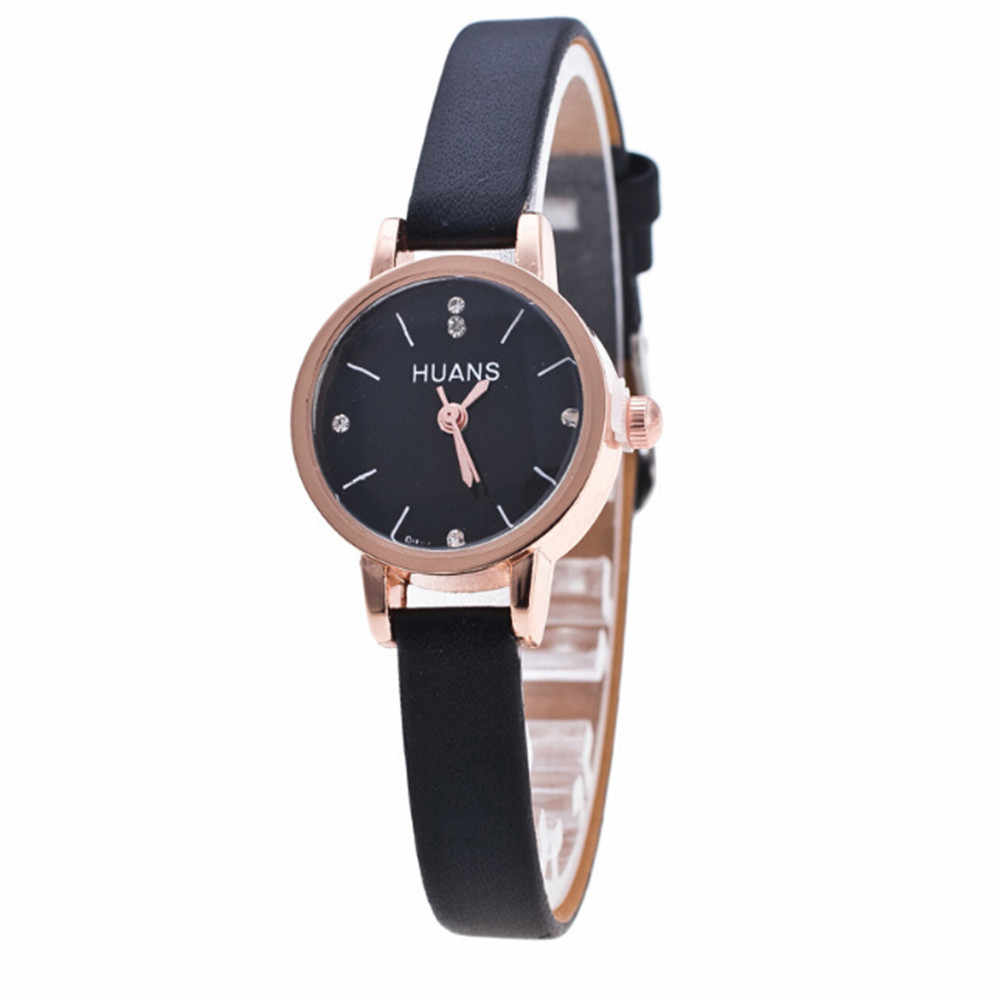 מינימליסטי שעון אישה בסדר עור מפוצל רצועת קוורץ שעון יד ליידי שעון נסיעות מזכרות יום הולדת מתנות Relogio Feminino # LR5