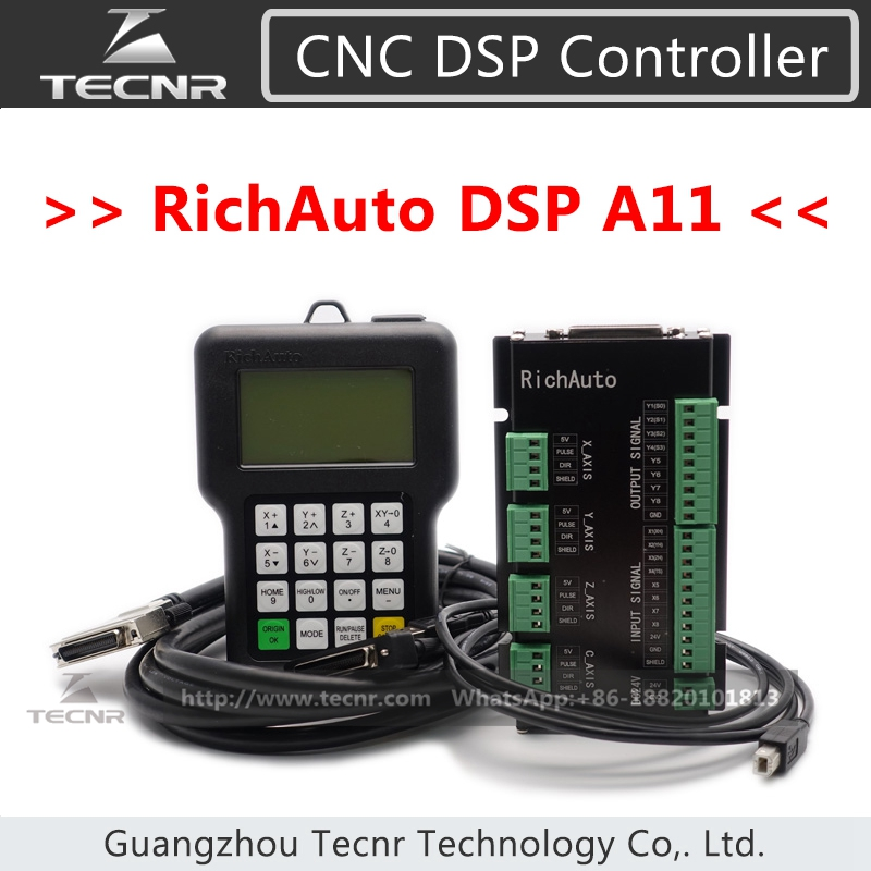 все цены на RichAuto DSP A11 CNC controller A11S A11E 3 axis controller for cnc router онлайн
