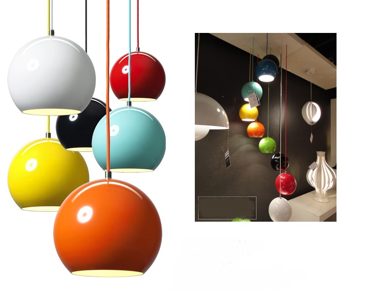 Color ball type Lamp Art Creative Personality clothing store study Pendant Lights bedroom bedside lamp single headlights ZA personalized clothing store track lamp