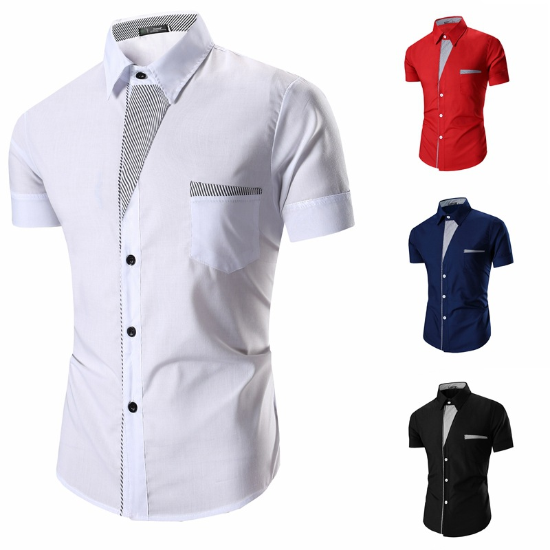 df4a5510a4 US $26.99 |Hot Classic Fashion Men Shirts Design Slim All match Color  Leisure Square Collar Shirt Casual Male Social Business Shirts Tops-in  Casual ...