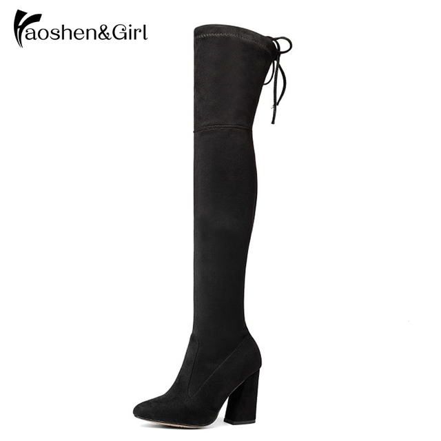 High Heel Boot Over Knee Boots Women Pointed Boots Long Woman Riding Boot Fashion Autumn Winter Multicolor Shoes Y01