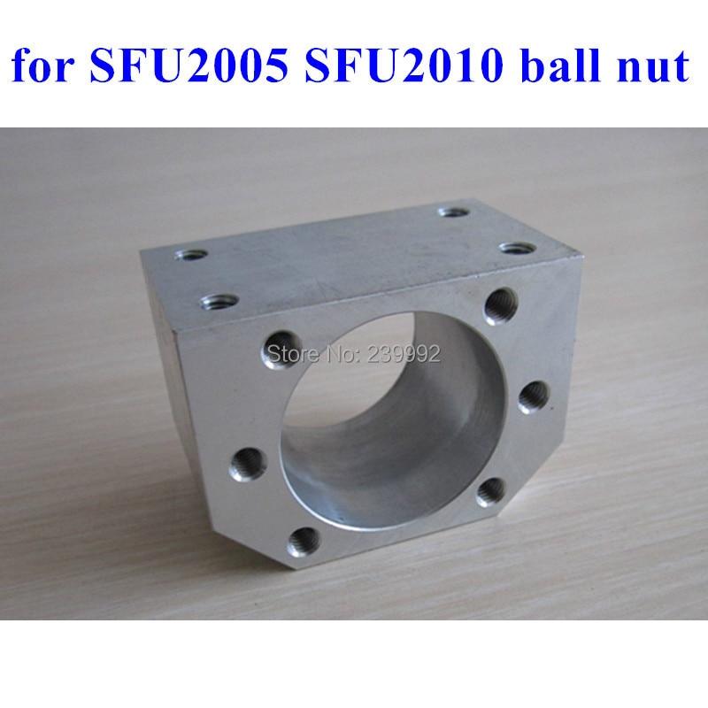 Шаровая гайка SFU2005 SFU2010, алюминиевый материал для 2005, 2010, 20 мм, держатель кронштейна, 3 шт.