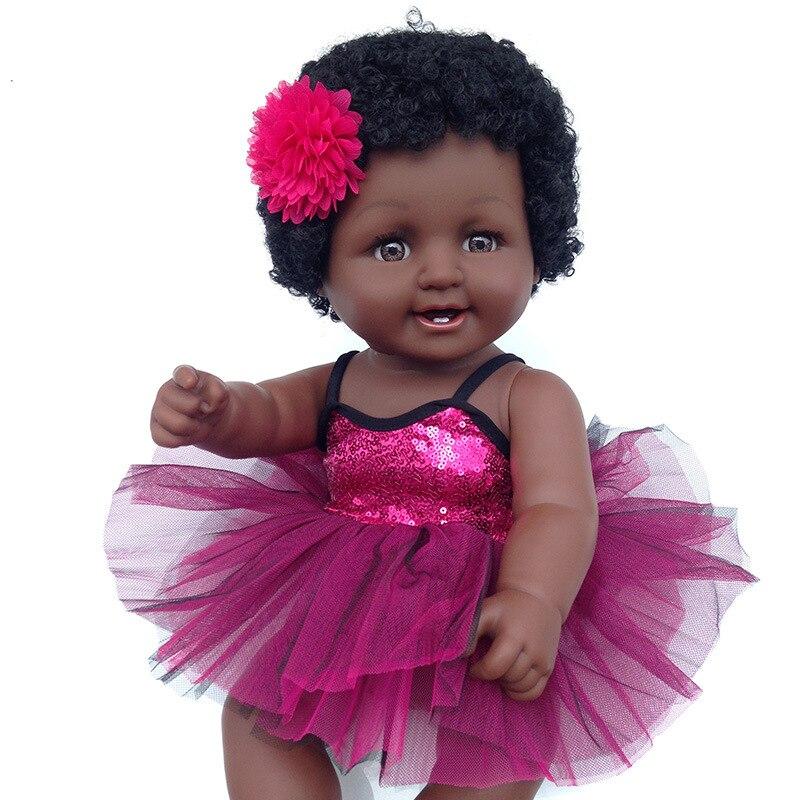 Jouets pour gils big 50 cm Simulation bébé poupée africaine noire silicone plastique poupée filles jouets surprise cadeau d'anniversaire pour les filles