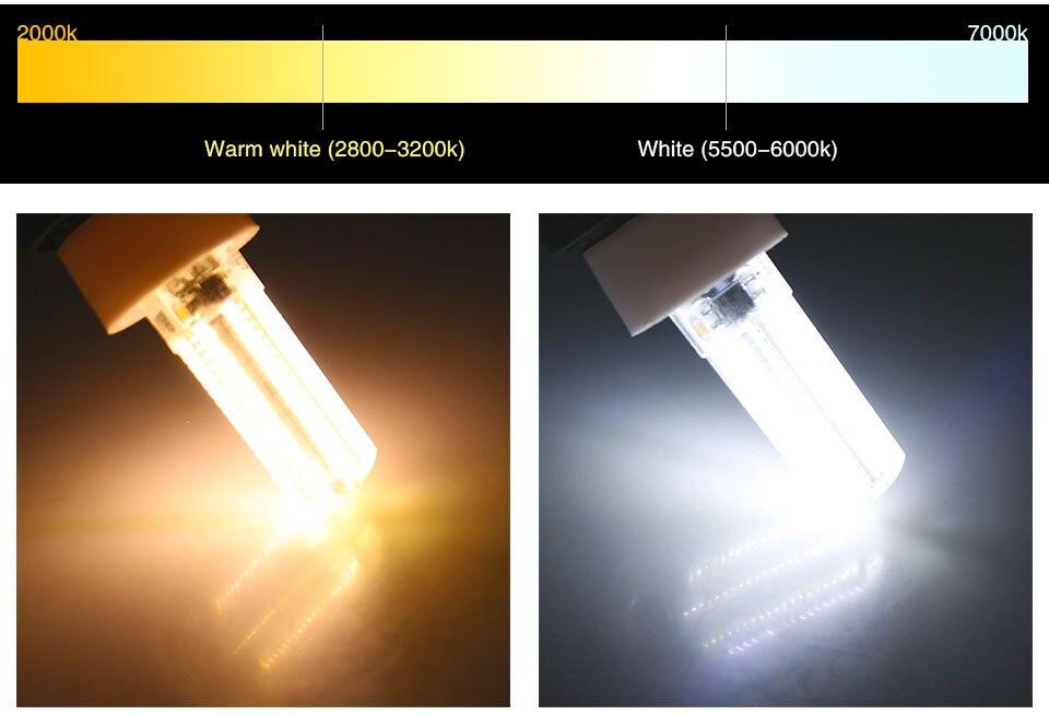 Silicone LED Corn Bulbs E11 E12 E14 E17 G4 G8 G9 LED Bulb Lamp 220V 110V  (12)