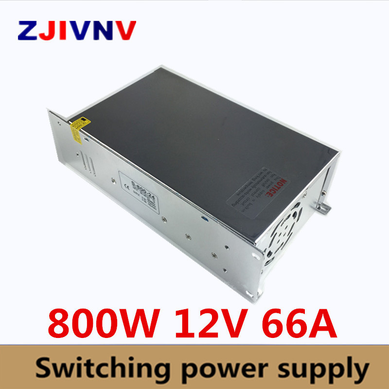 New Model ac-dc Power Supply 12V 66A 800W AC DC Converter 220v 110V LED Driver DC12V Switching Power Supply For Led Light CCTVNew Model ac-dc Power Supply 12V 66A 800W AC DC Converter 220v 110V LED Driver DC12V Switching Power Supply For Led Light CCTV