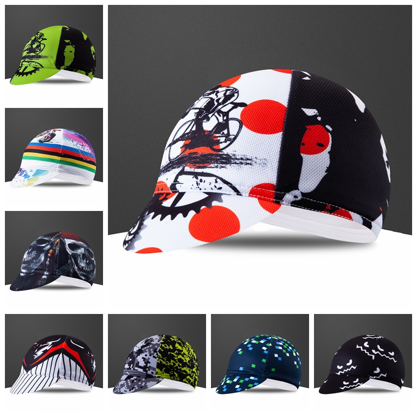 Coolmax Cycling Cap Bike Pro Team Headbands Breathable Summer Cycling Sweat Dry Mtb Road Bike Hat Wear Men Women Bike Caps