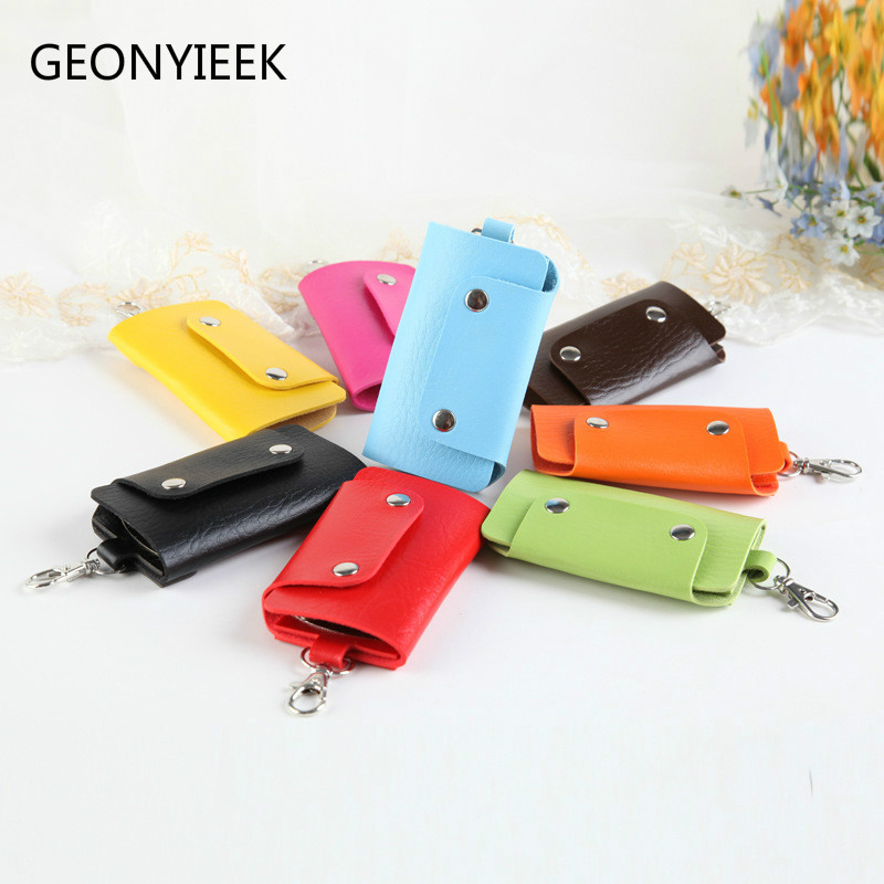 PU Leather Key Holder Housekeeper Holders Car Keychain Bag Case Wallet Cover Fashion Gifts Keys Holder for Women Men Brand