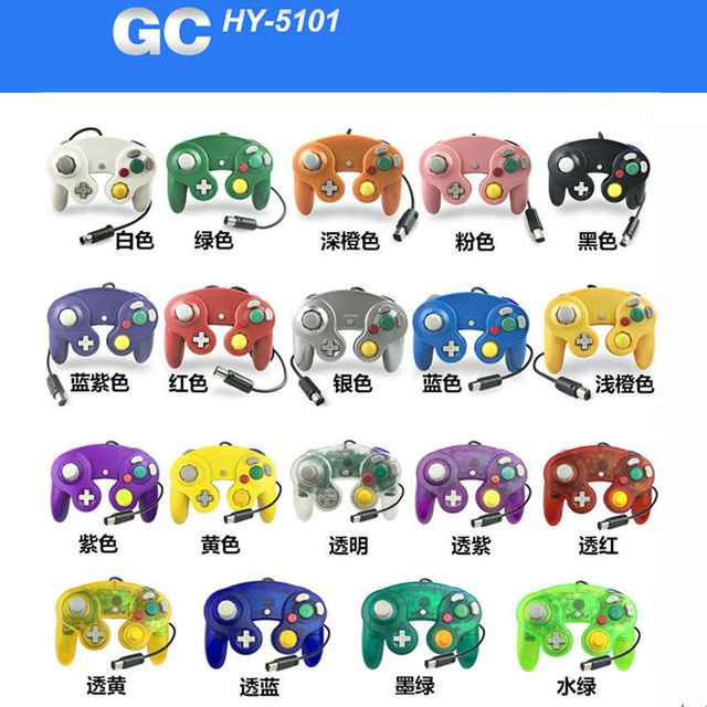 Dabruyne hot sell Gamepads For Gamecube Controller Wired Handheld Joystick For Nintend For GC Controle For MAC Computer PC