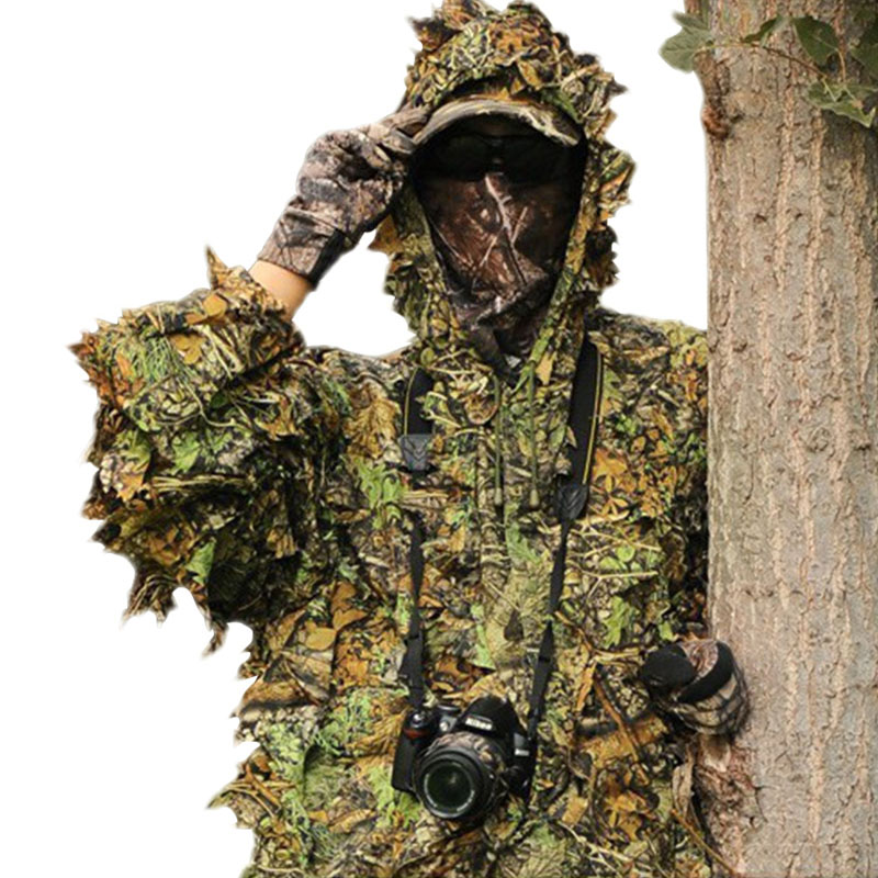 Hunting Tactical Military Gear Mens Sniper Tree Camo Camouflage Foliage Suit Forest Clothes Jacket with Pants ...