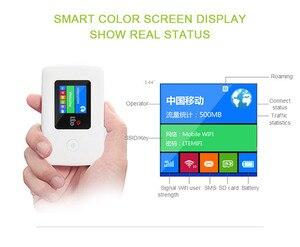 Image 3 - 4 グラム Wifi ルータロック解除 150 150mbps の 3 グラム/4 4G LTE 屋外旅行ワイヤレスルータ SIIM カード TF カードスロットポケット 10 までユーザー