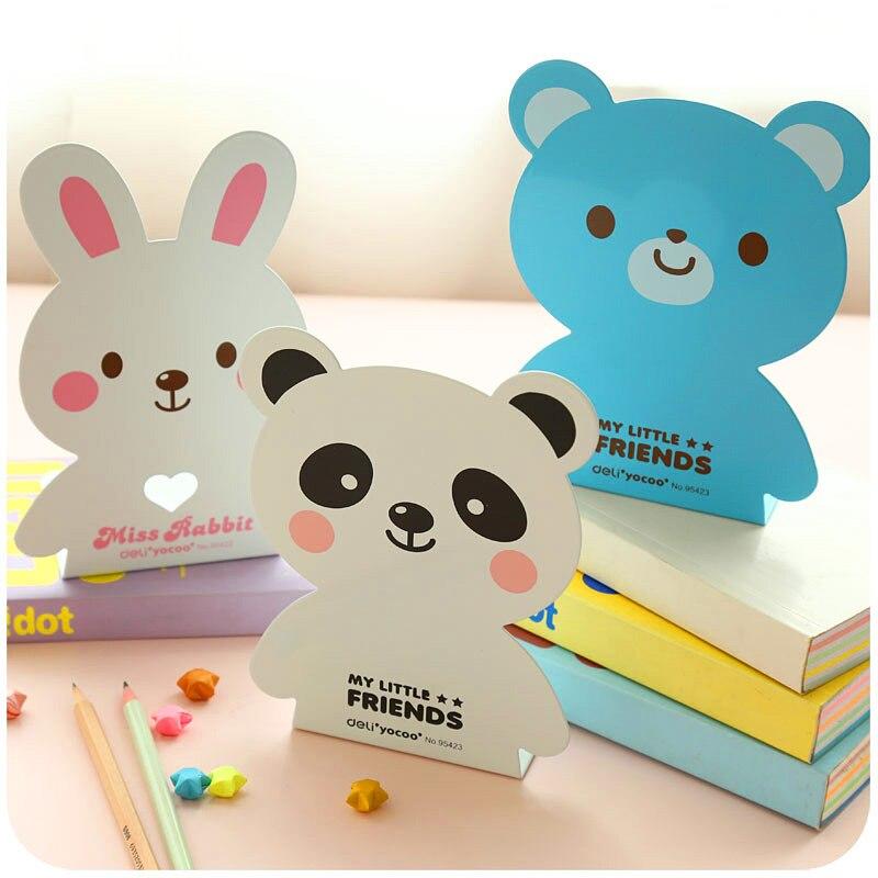 1 Pair/lot Cute Metal Cartoon Animal-like Bookend, Panda & Bear & Rabbit, SL00010