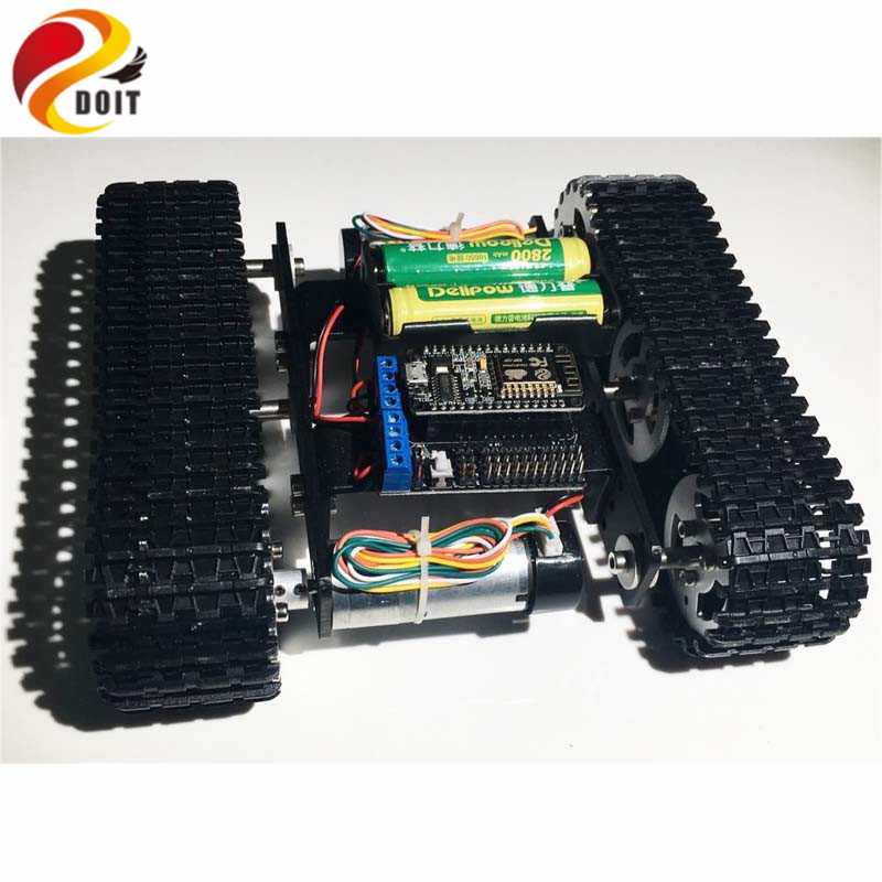 DOIT mini T100 Crawler Tank Car Chassis with Nodemcu Development Kit for Robot Competition DIY RC Toy цена