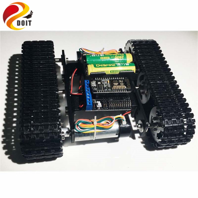 DOIT mini T100 Crawler Tank Car Chassis with Nodemcu Development Kit for Robot Competition DIY RC Toy