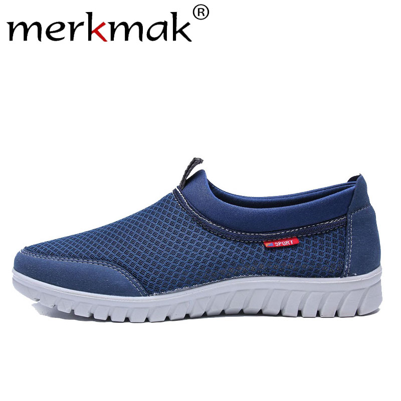 Merkmak Men's Shoes Loafers Spring Slip-On Comfortable Flat Casual Fashion Summer Footwear