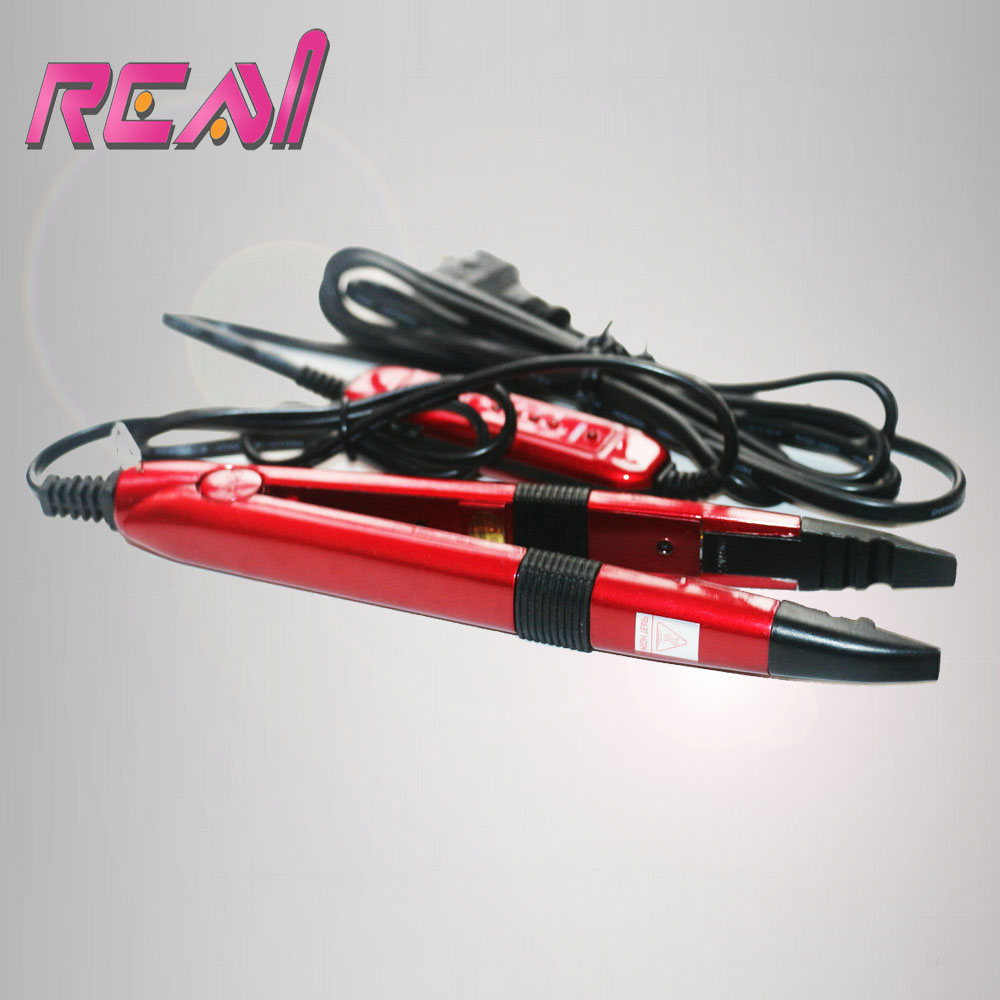 Freeshippinng Red Color Tem Control Fusion Iron For Keratin Pre Bonded Hair Extensions Tools Mini Hair