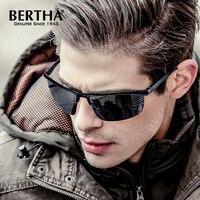 Bertha Lunettes De Soleil de Mode Hommes lunettes de Soleil Polarisées Hommes Conduite Revêtement Points Noir Cadre Lunettes Mâle Lunettes de Soleil UV400