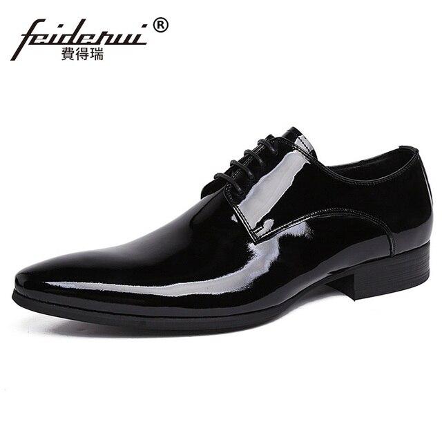 Italiano Formale Designer Uomo Vestito Scarpe di Vernice In Pelle Stringate  Da Sposa Famoso Di Lusso 6d5bd228a32