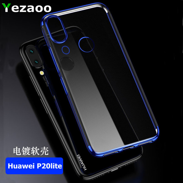 Huawei P20 Lite Case Cover Transparent Soft Silicone Silm Plating TPU Back Cover For Huawei P20 P20Pro P20Lite Case Phone Coque