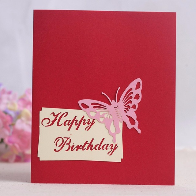 3d Pop Up Happy Birthday Greeting Card Cake Shape Surprise Greeting
