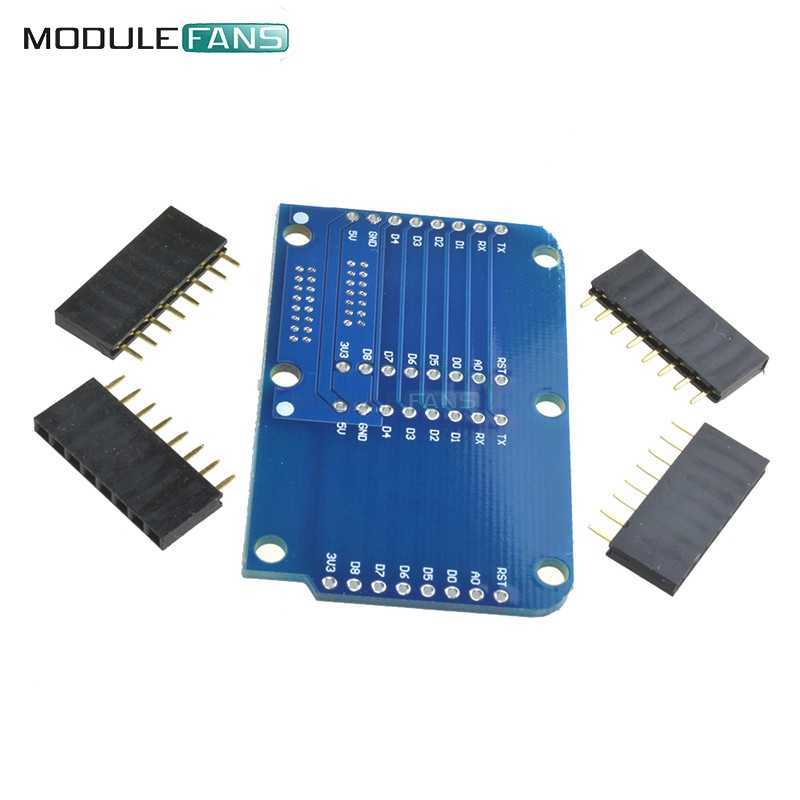 NodeMCU ESP8266 の Arduino 用 Wemos D1 ミニシールドダブルソケットデュアルベース用 NodeMCU ESP8266 拡張ボード