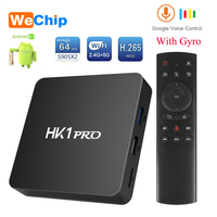 HK1 PRO Android 8.1 Smart TV BOX S905X2 LPDDR4 4GB 64GB 2.4G&5GWifi Bluetooth 4K HD 3D Google Play Store Player Voice Assistant