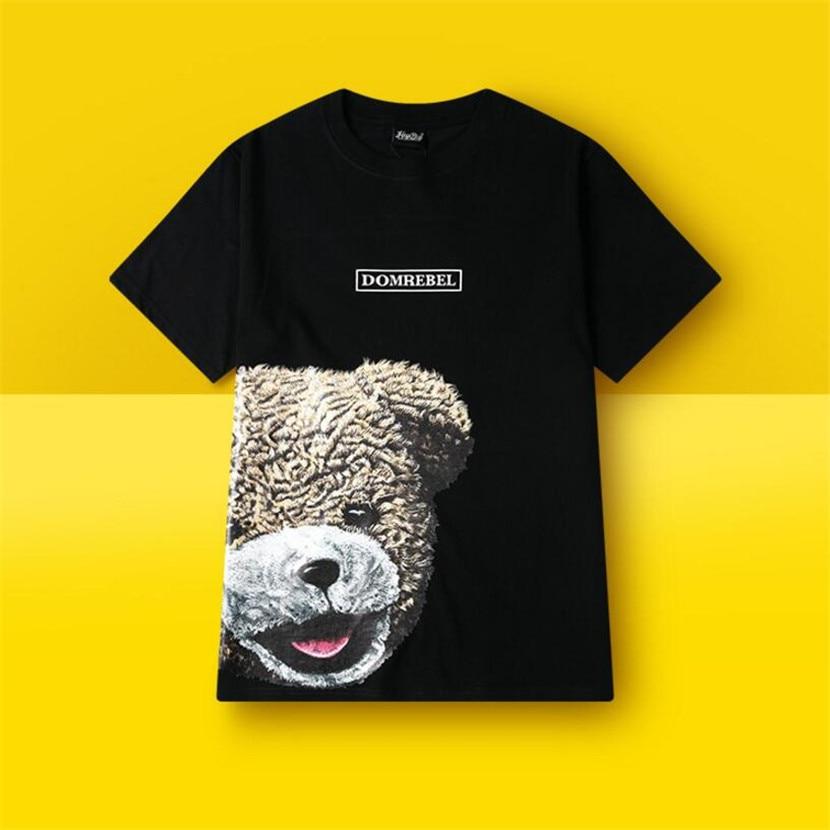 New Summer Printed Bear Type Skate Shirts Mens Black Cosplay Sportwear Summer Skateboard Shirts Boy Skate shirt Tops in Skateboarding T Shirts from Sports Entertainment