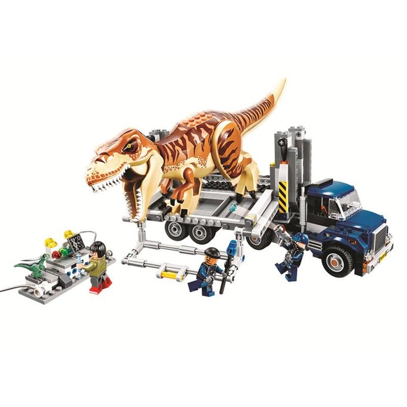 New legoings 75933 638pcs Jurassic World The Tyrannosaurus Rex Transport Model Building Block Toys For Children Bela 10927New legoings 75933 638pcs Jurassic World The Tyrannosaurus Rex Transport Model Building Block Toys For Children Bela 10927