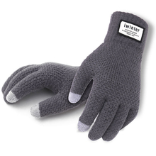 Men Cashmere Knitted Gloves Thick Warm Patchwork TouchScreen Mittens Autumn Winter Male Solid Fitness Workout Glove Mitaine
