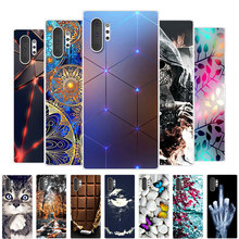 цена на For Galaxy Note 10 Case Samsung Galaxy Note 10 Case Silicone TPU Soft Back Cover Phone Case For Samsung Note 10 Pro Note10 Plus