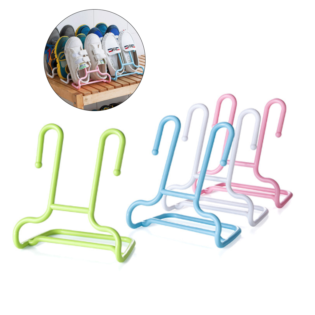 New 10PCS/Set Multi-Function Shelf Drying Rack Shoe Rack Stand Hanger Children Kids Shoes Hanging Storage Wardrobe Organizer