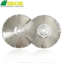 цена на 2pcs 230mm Electroplated reinforced diamond cutting disc 9 inches marble saw blade with 22.23mm flange