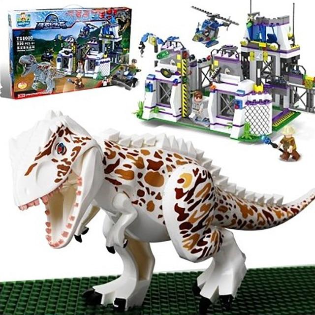 841 pcs Base de Jurassic Park Dinossauros Do Mundo Legoings Modelo Blocos de Construção Kit Montar Tijolos Educacionais Presentes Brinquedos Infantis